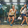 Logan Greer (Yale) and Catalina Pelaez (Trinity)<br /> <br /> Published on page 3 of the 2011 Women's College Squash Association National Team Championship Program.