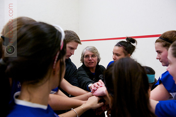 2012 Pioneer Valley Invitational: Coach Wendy Berry and the Wellesley team