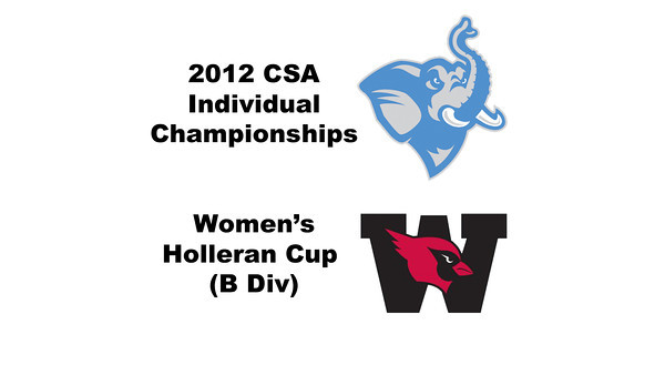 Holleran Cup (1st Consolation, Round 2): Mary Foster (Wesleyan) and Jessica Rubine (Tufts)