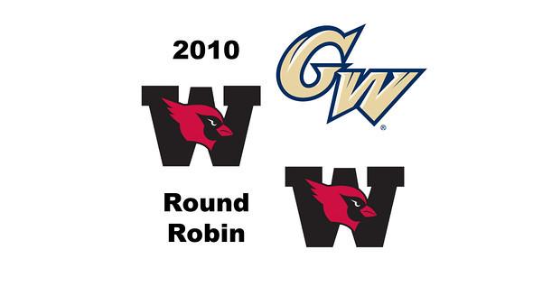 2010 Wesleyan Round Robin: Lauren Mathieu (George Washington) and Grace Zimmerman (Wesleyan)
