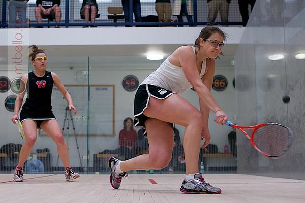 2013 Women's National Team Championships: Annie Maxwell (Wesleyan) and Rachel Barnes (Bowdoin)