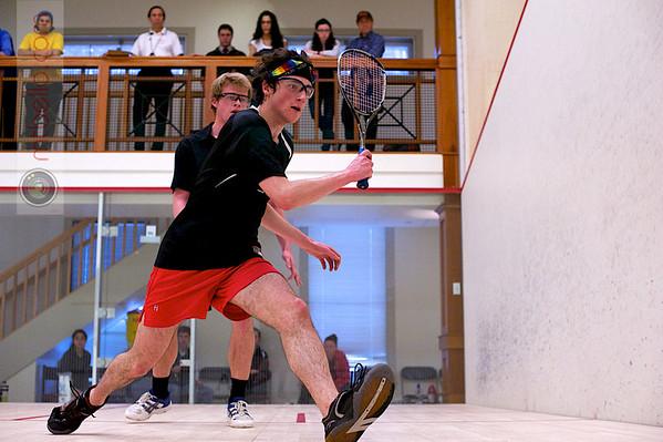 2012 College Squash Individual Championships: John Steele (Wesleyan) and Jay Dolan (Middlebury)
