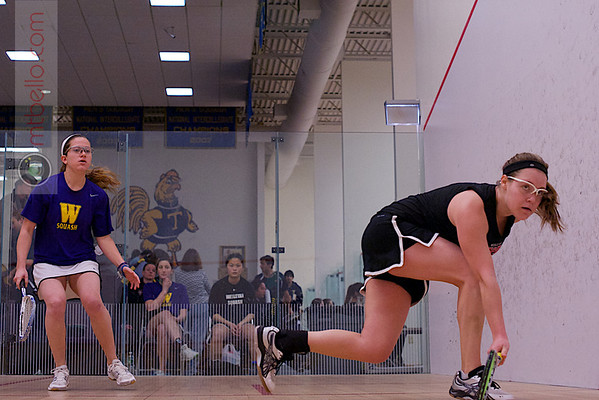 2013 NESCAC Championships: Nicole Feshbach (Williams) and Claire Miller (Wesleyan)