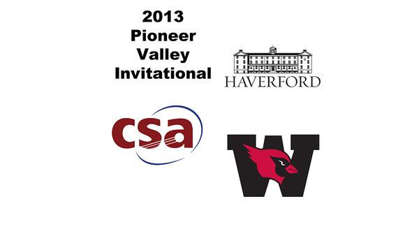 2013 Pioneer Valley Invitational: Hannah Jenkins (Wesleyan) and Alyssa Kaden (Haverford)