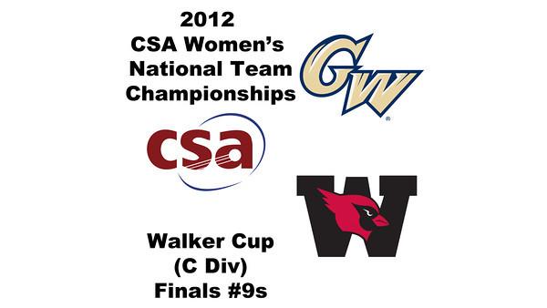a50 2012 Women's College Squash Association National Team Championships - Walker Cup (C Division): Rebecca Imrich (George Washington) and Meherazade Sumariwalla (Wesleyan)