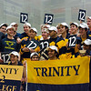 Trinity celebrates 12th national championship<br /> <br /> Published on page 9 of the 2011 Men's College Squash Association National Team Championship Program.