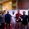 Mike Way (Harvard), Craig Dawson (Navy), Paul Assaiante (Trinity), Chris Smith (Harvard), Dave Talbott (Yale) and Bob Callahan (Princeton) with the new Potter Cup trophy