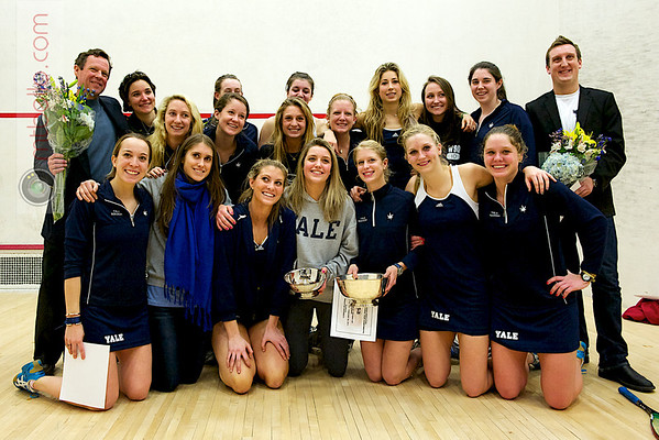 The 2011 Yale Bulldogs celebrating their National Championship.