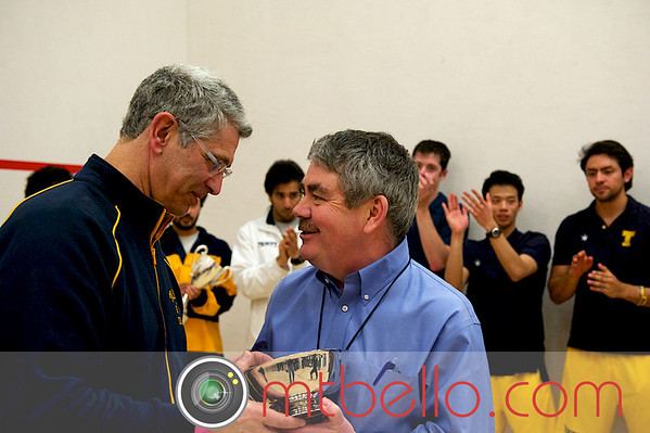 Paul Assaiante (Trinity) accepting the Potter Cup from Tournament Director Craig Thorpe-Clark
