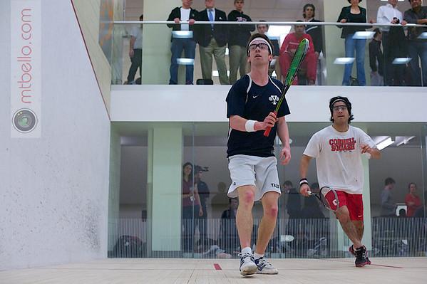 2012 Men's College Squash Association National Team Championships: Neil Martin (Yale) and Arjun Gupta (Cornell)