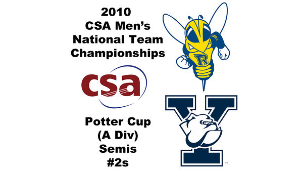 2010 Men's National Team Championships - Potter Cup Semis, #2s: Jim Bristow (Rochester) and Todd Ruth (Yale)