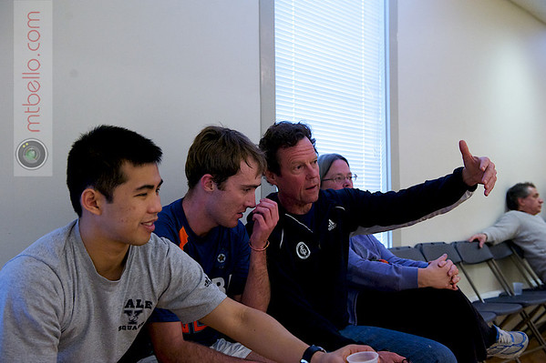 2012 College Squash Individual Championships: Kenneth Chan (Yale), Richard Dodd (Yale), and Dave Talbott