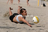 Andrea Csaszi gets down on the sand