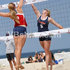 Cook, Allie(Arizona) jousts with Becca Strehlow, Pepperdine