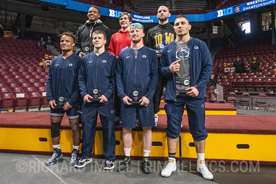 2019 Big Ten Champions: Myles Martin, Joey McKenna, Alex Marinelli, Mark Hall, Jason Nolf, Bo Nickal, Anthony Cassar