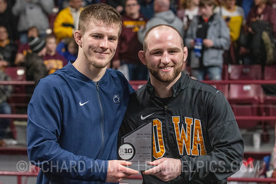 Jason Nolf , Penn State & Alex Marinelli, Iowa, Co-Outstanding Wrestlers of the Big Ten Championships