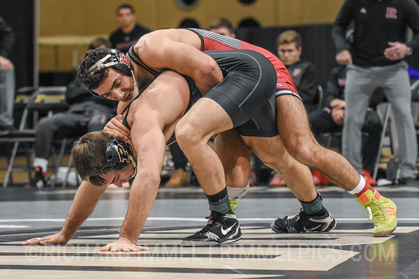 174: No. 11 Dylan Lydy (Purdue) dec. Joe Grello (Rutgers), 4-3