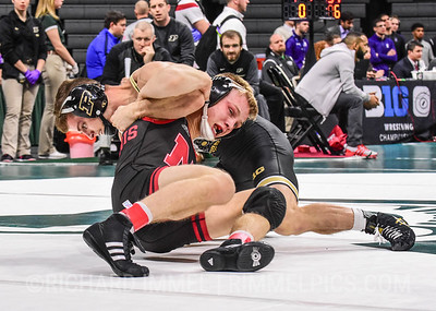 125: Luke Welch (Purdue) dec. Mitch Maginnis (Nebraska), 6-2