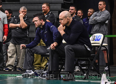 Coaches Cody Sanderson (Penn State) and Cael Sanderson (Penn State)