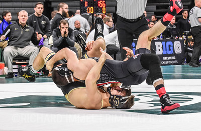 125: Nathan Tomasello (Ohio State) maj. dec. Luke Welch (Purdue), 14-3