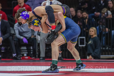 125: No. 13 Michael DeAugustino (Northwestern) dec. No. 12 Jack Medley (Michigan), 3-2
