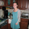 Casey in the kitchen at home making her morning coffee. This was taken in the early fall of 08' or spring 09'.