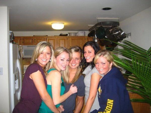 Christmas break 08'-09' - with the girls, Mesissa Moritz, Casey, ?, Rachael Kemmey and Lindsey Burke