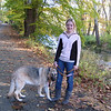 10-08' Casey went with Mom, Dad & Nikki on a walk in Ridley Creek State Park one beautiful fall day when she came home from college for the weekend.