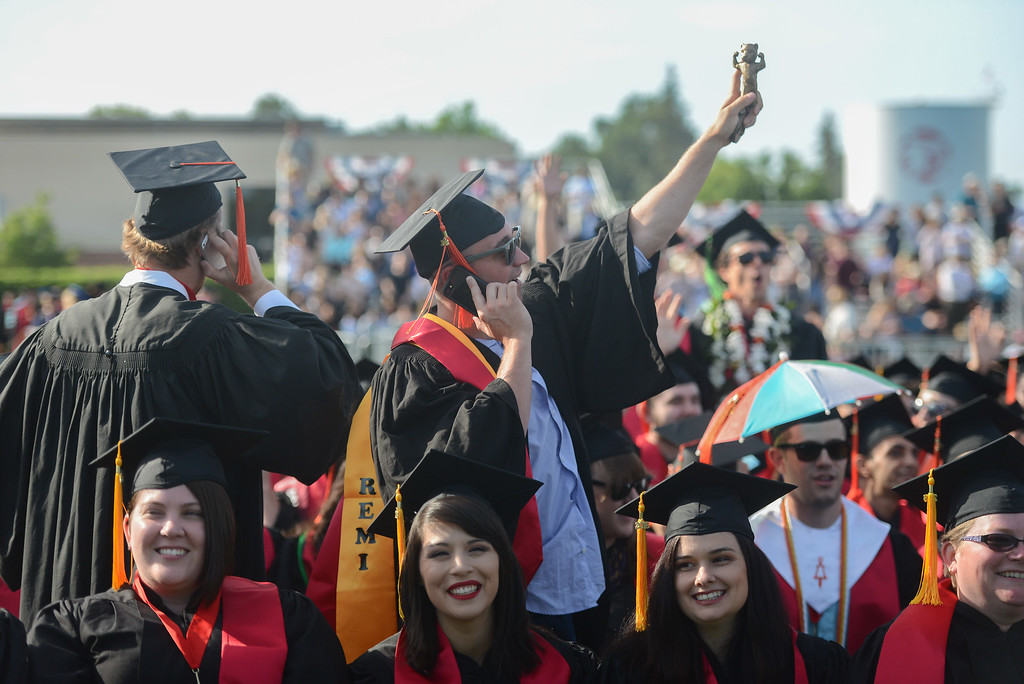 . Chico State University College of Natural Sciences and College of Engineering, Computer Science & Construction Management Commencement, May 19, 2018,  in Chico, California. (Carin Dorghalli -- Enterprise-Record)