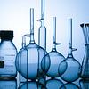 blue glass flasks