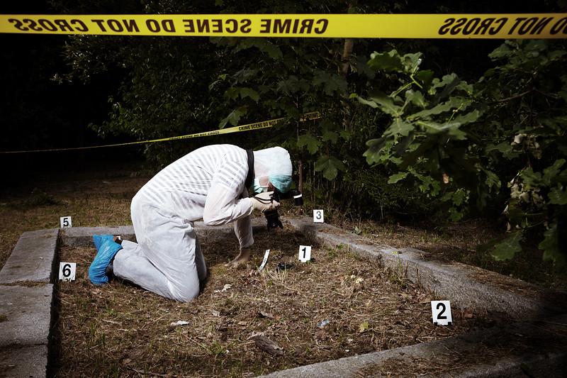 Crime scene investigation - photo documentation