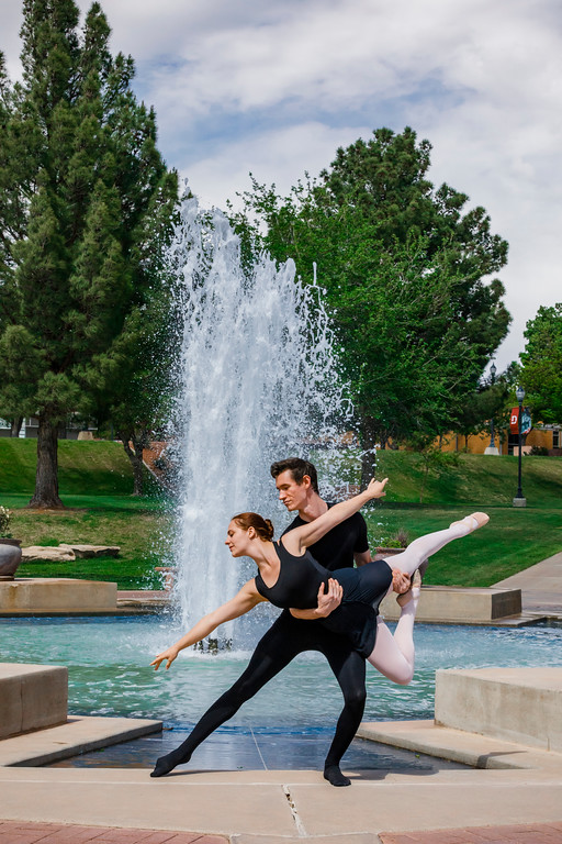 ballet by the fountain