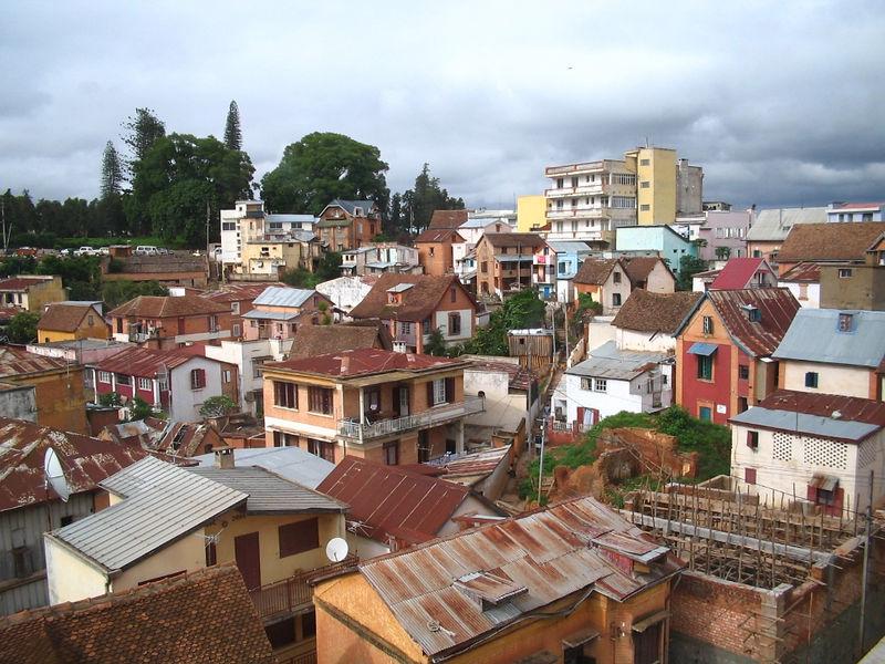 Downtown Antananarivo. Picture taken by Kathy