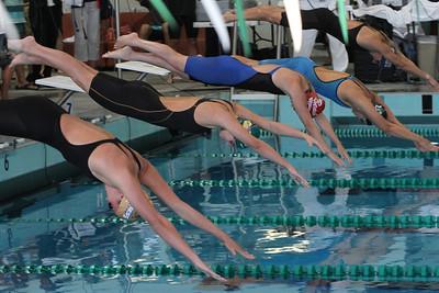 start of womens 50 yard freestyle