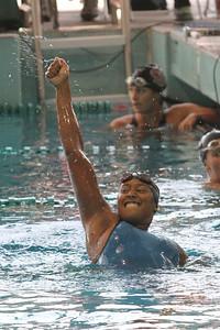 Alexandria Holland celebrate winning the 100 IM