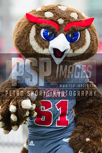 FAU mascot Owlsley the Owl during the football game between the visiting Western Kentucky Hilltoppers and the FAU Owls on October 29, 2016. ( Allison Petro, The Skyboat )
