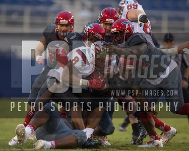 Western Kentucky Hilltoppers wide receiver John Brunner (8) is tackled during the football  game between the visiting Western Kentucky Hilltoppers  and the FAU Owls on October 29, 2016  ( Joe Petro, The Skyboat )