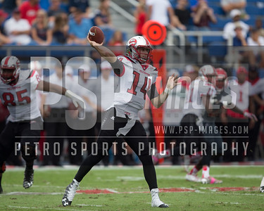 Western Kentucky Hilltoppers quarterback Mike White (14) passes during the football  game between the visiting Western Kentucky Hilltoppers  and the FAU Owls on October 29, 2016  ( Joe Petro, The Skyboat )