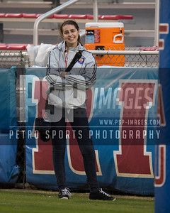 SkyBoat photographer Allison Petro during the football  game between the visiting Western Kentucky Hilltoppers  and the FAU Owls on October 29, 2016  ( Joe Petro, The Skyboat )