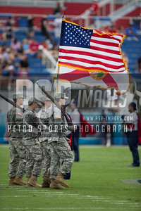 FAU Color guard before the football  game between the visiting Western Kentucky Hilltoppers  and the FAU Owls on October 29, 2016  ( Joe Petro, The Skyboat )