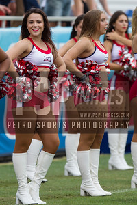 FAU dance team on the sidelines during the football game between the visiting Western Kentucky Hilltoppers and the FAU Owls on October 29, 2016. ( Allison Petro, The Skyboat )
