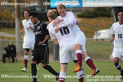 Whitworth's Andrew French celebrates goal