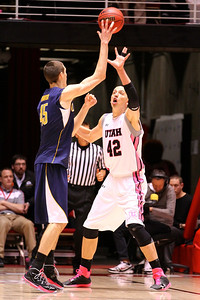 U of U MBB vs California 1-24-2013. Jason Washburn (42)