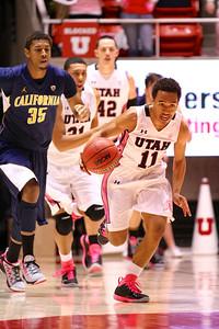 U of U MBB vs California 1-24-2013. Brandon Taylor (11)