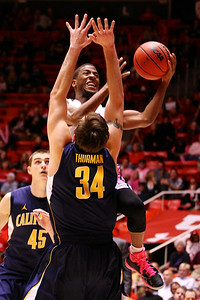 U of U MBB vs California 1-24-2013. Jarred DuBois (5)