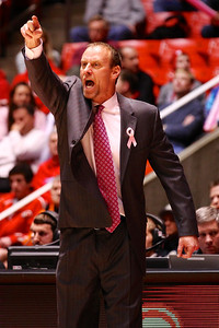 U of U MBB vs California 1-24-2013. Coach Larry Krystkowiak