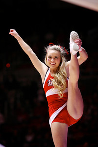U of U MBB vs Arizona 2-17-2013. Cheerleaders