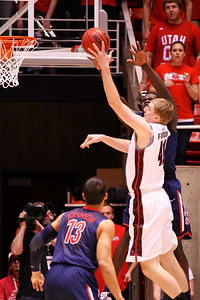 U of U MBB vs Arizona 2-17-2013. Jeremy Olsen (41)