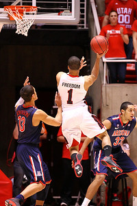 U of U MBB vs Arizona 2-17-2013. Glen Dean (1)