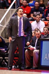 U of U MBB vs Arizona 2-17-2013. Arizona Coach Sean Miller